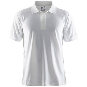 Craft Classic Polo Pique Fietsshirt Korte Mouwen Heren, white